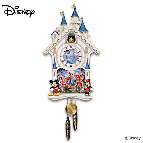 Cinderella Castle Cuckoo Clock With 40 Friends