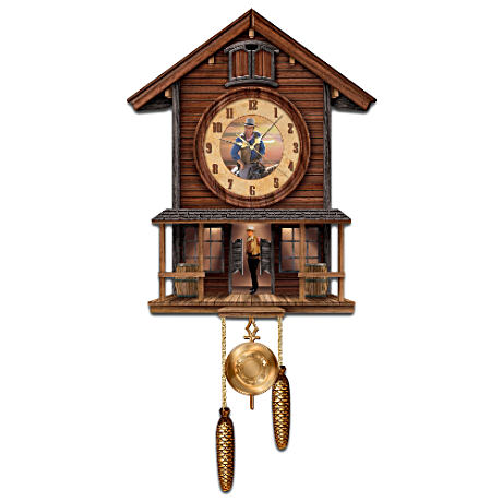 Illuminated 3D John Wayne Cuckoo Clock