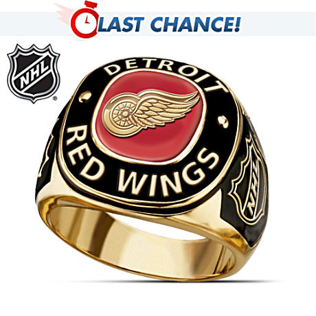 Detroit Red Wings® 24K Gold-Plated Men's Ring