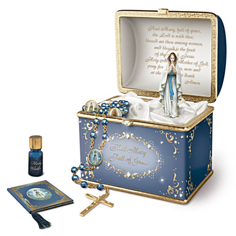 """Our Lady"" Musical Porcelain Prayer Box"