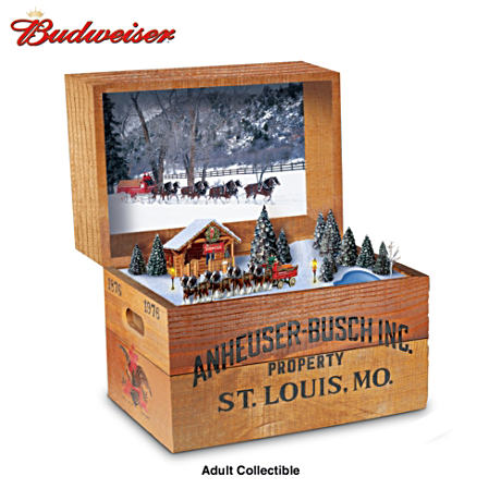 The 100th Anniversary Budweiser Beer Crate Music Box