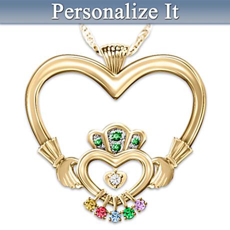 """An Irish Mother's Love"" Personalized Birthstone Pendant"
