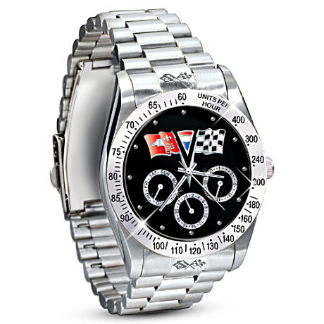 """A Legend For All Time"" Corvette Men's Chronograph Watch"