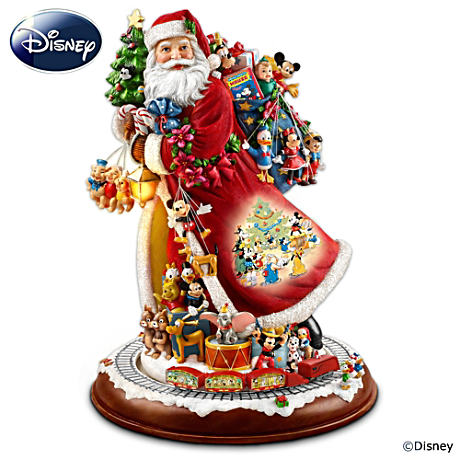 "Animated ""Santa's Timeless Disney Treasures"" Figurine"