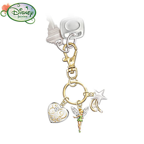 Tinker Bell Believe Key Chain With Swarovski Crystals
