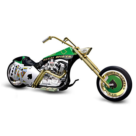 """Texas Hold 'Em"" Chopper Figurine"