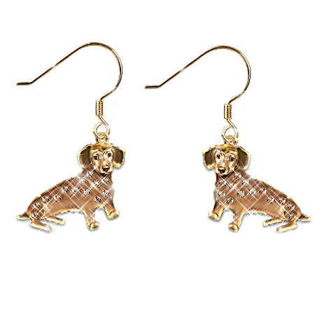 """Best In Show"" Dachshund Earrings With Swarovski Crystals"