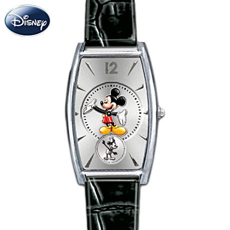 """Mickey Now & Then"" Watch With Two Bands"