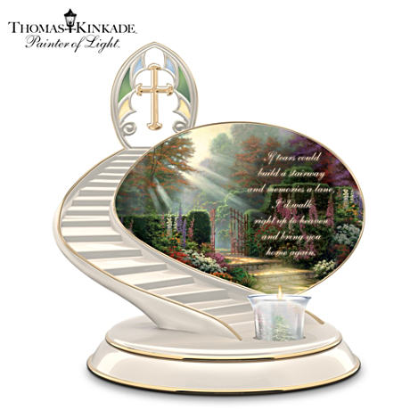 "Thomas Kinkade ""Loving Remembrance"" Memorial Candleholder"