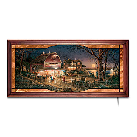 Terry Redlin Illuminated Stained-Glass Art Panorama