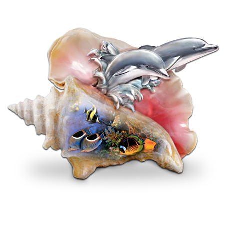 """Waves Of Paradise"" Dolphin Figurine"