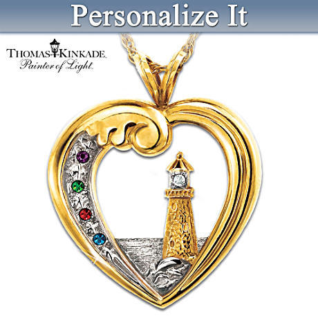 Thomas Kinkade Personalized Birthstone Pendant Honors Family