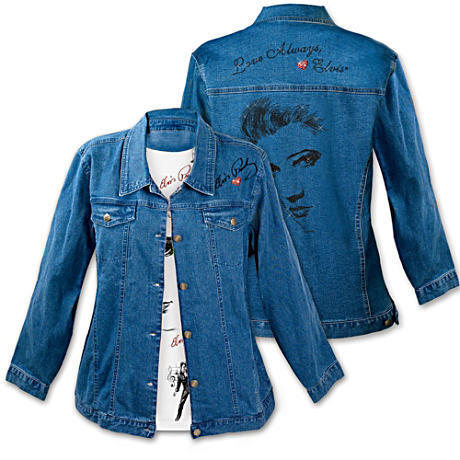 """Love Always, Elvis"" Denim Women's Jacket"
