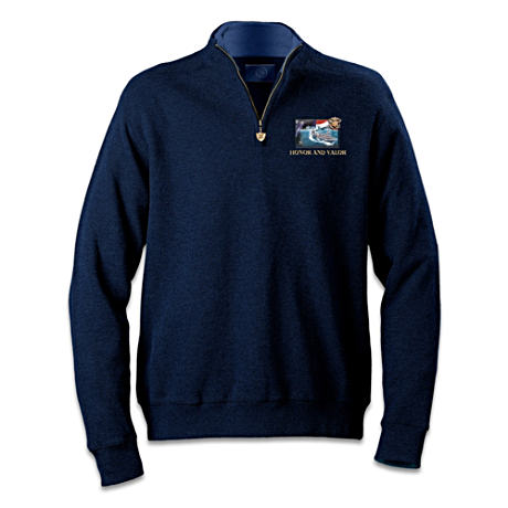 U. S. Navy Zippered Pullover Sweater