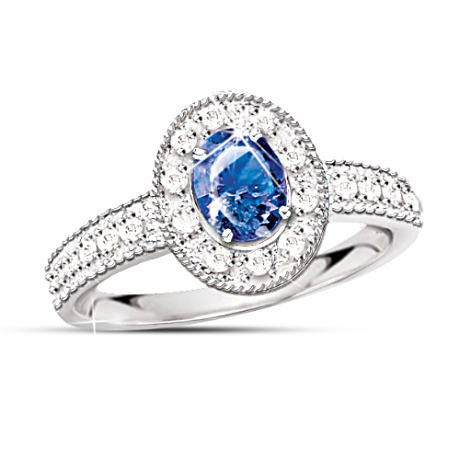 The 1/2 Carat Sapphire And Diamond Ring