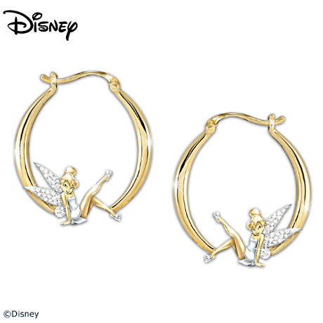 Engraved Tinker Bell Diamonesk Earrings