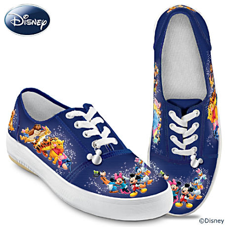 Disney Character Art Shoes With Sculpted Charm