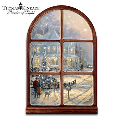 Thomas Kinkade Holiday Wall Decor With Lights And Music