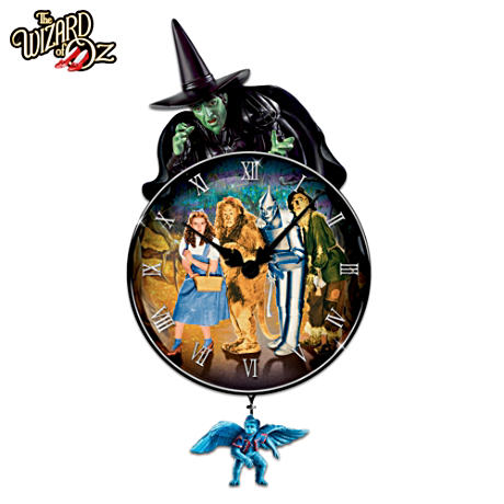 Officially Licensed Wizard Of Oz Wall Clock With Film Art