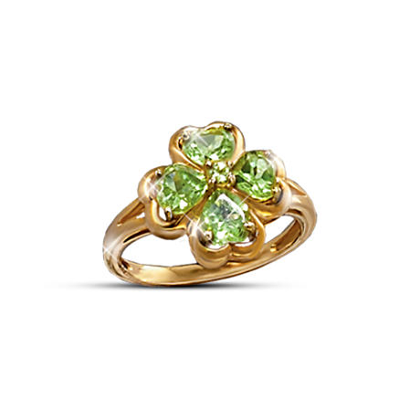 """Luck Of The Irish"" Peridot Gemstone Ring"