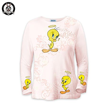 """Tweety 100 Percent Angel"" Art Shirt"