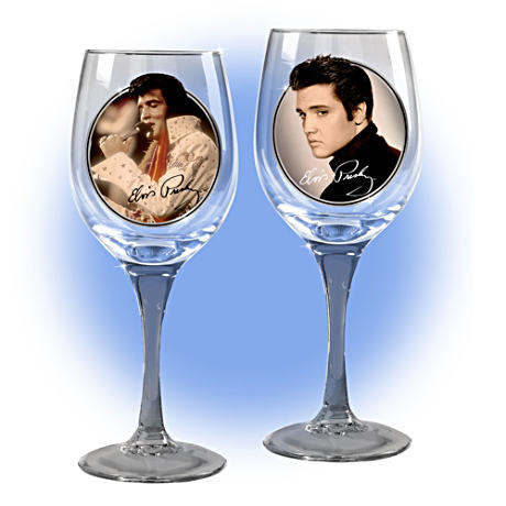 Elvis® Wine Glasses Celebrate The King's Birthday