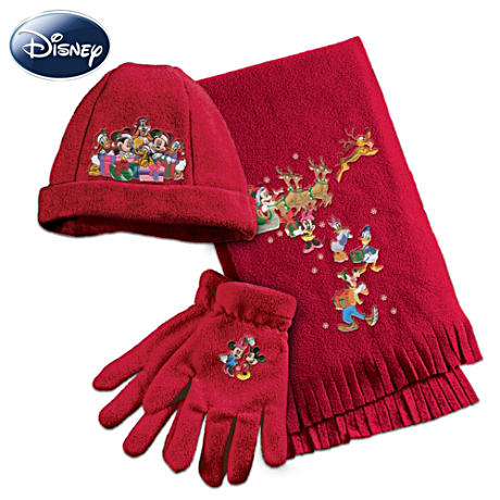 Disney Holiday Fleece Hat, Scarf And Gloves