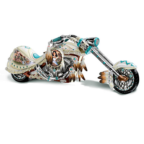 Native American Inspired Motorcycle Figurine