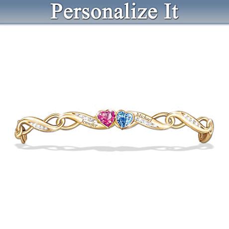 """""""Love's Journey"""" Personalized CZ Birthstone Bracelet"""
