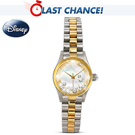 Disney Mickey Mouse Floating Crystal Watch