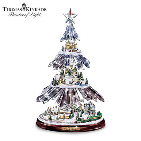 Thomas Kinkade Illuminated Icicle Tree With Music And Motion