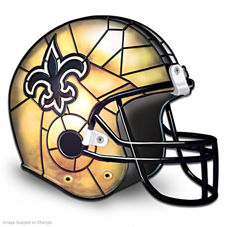 New Orleans Saints Football Helmet Lamp