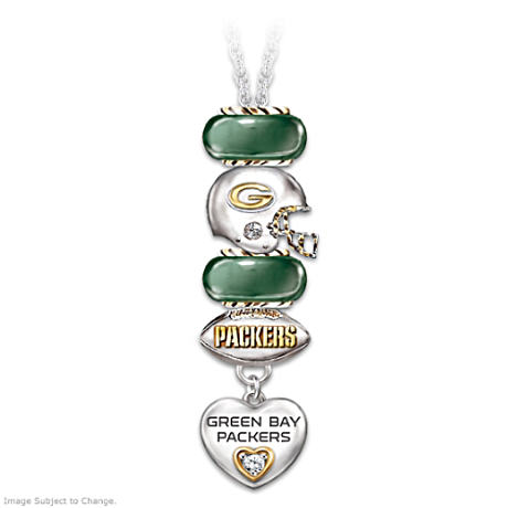 Super Bowl XLV Green Bay Packers Fan Charm Necklace