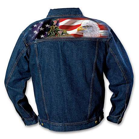 Classic Marine Corps Semper Fi Men's Denim Jacket