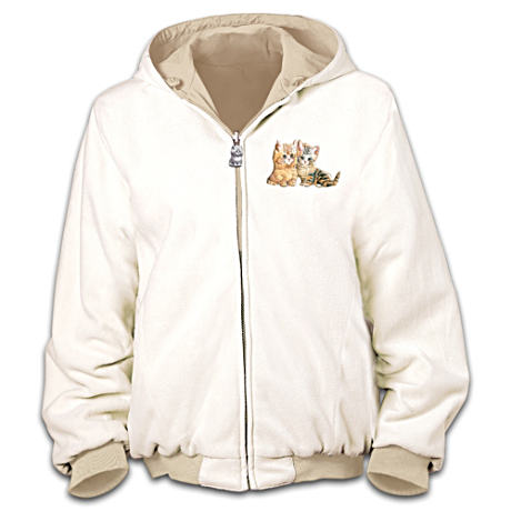 Jürgen Scholz Kitten Art Reversible Fleece Jacket