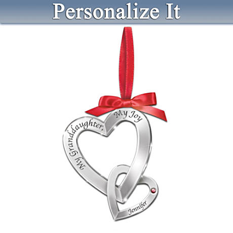 """My Granddaughter, My Joy"" Personalized Birthstone Ornament"