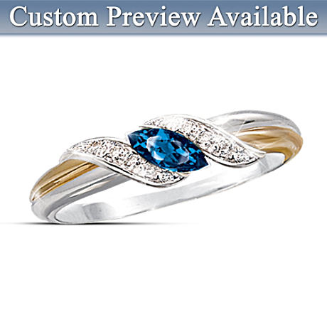 Embrace Genuine Birthstone Ring