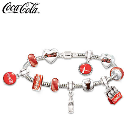 Anniversary Coca-Cola Bracelet With Interchangeable Charms
