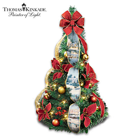 Thomas Kinkade Pre-Lit, Pre-Decorated Instant Christmas Tree
