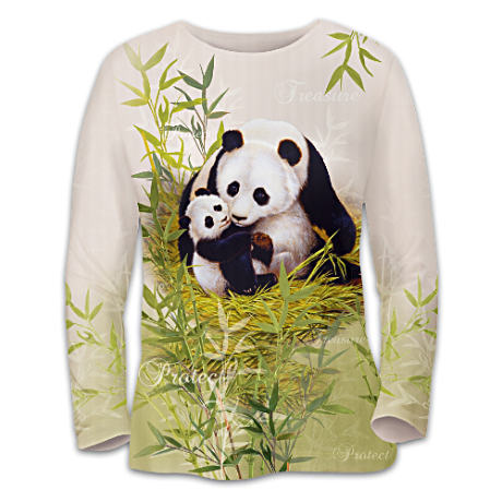 Panda Bear Women's Shirt Supports Panda Conservation
