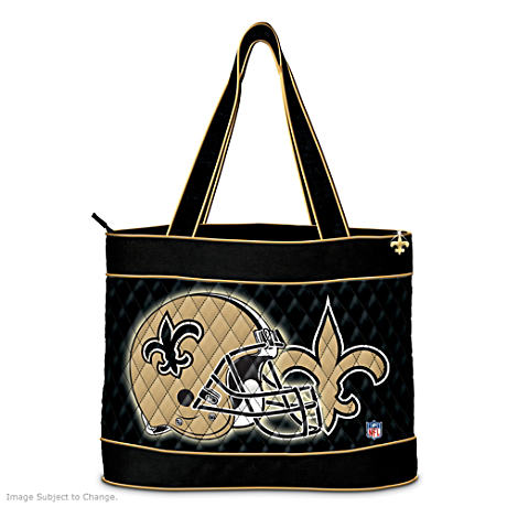 New Orleans Saints Tote Bag With Free Cosmetic Cases