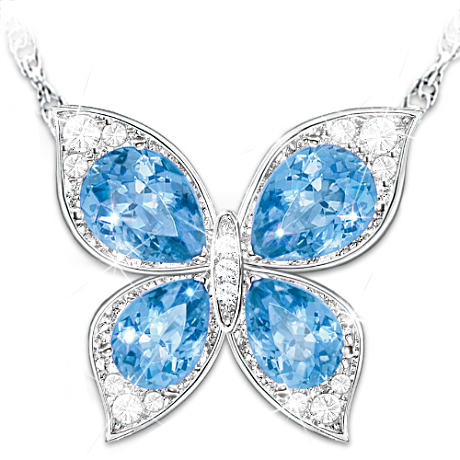 Color-Changing Butterfly Pendant Necklace For Daughter