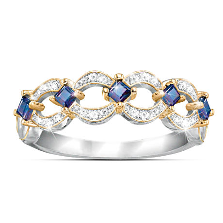 Enchantment Tanzanite And Diamond Women's Eternity Ring
