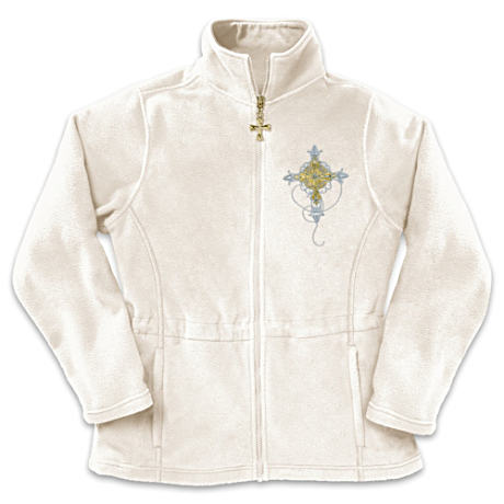 """Reflections Of Faith"" Inspirational Fleece Jacket"