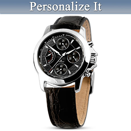 Engraved Personalized Chronograph Watch For Sons