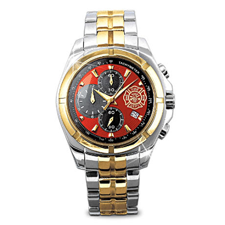 Stainless Steel Firefighter Chronograph Men's Watch