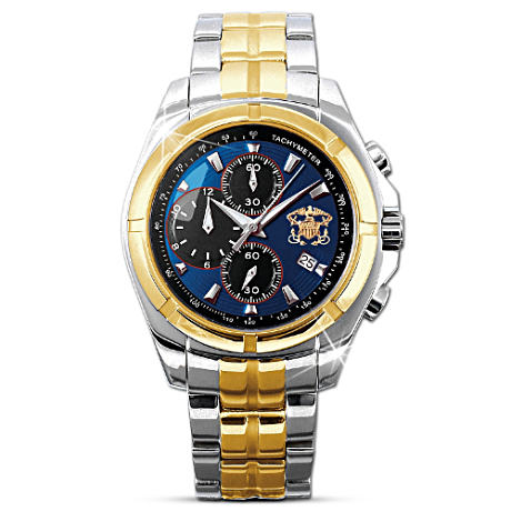 U.S. Navy Tribute Chronograph Watch With Presentation Case