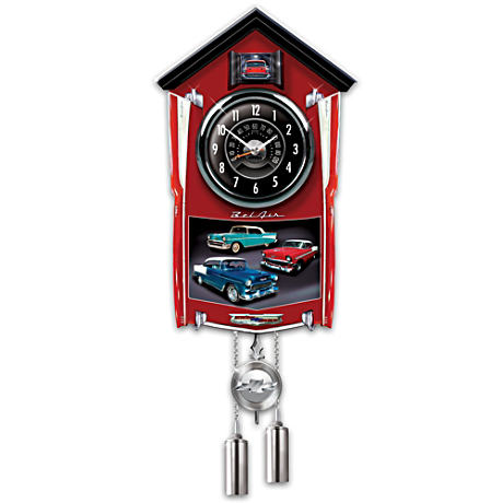 Bel Air Cuckoo Clock Lights Up With Revving Sound