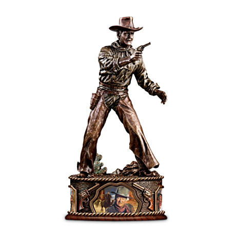 John Wayne Taming The West Bronze-Finished Sculpture