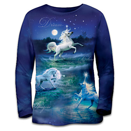 Kirk Reinert Unicorn Art Women's Shirt
